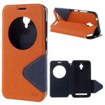 Roar Korea - Handyhülle für Asus Zenfone Go - Case aus Leder - Diary View Series - orange