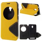 Roar Korea - Handyhülle für Asus Zenfone Go - Case aus Leder - Diary View Series - gelb