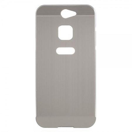 Gigaset ME Pure 5.0 Handyhülle - Metall Bumper und Plastik Case in einem - aufschiebbar - silber