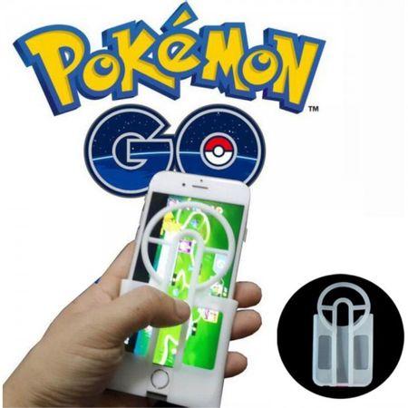 Case für iPhone 6 Plus/6S Plus - Handyhülle aus Silikon - mit Zielvorrichtung für Pokebälle - weiss