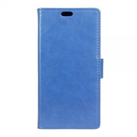 Wiko Jerry Case - Leder Flip Handyhülle - mit Crazy Horse Textur und Standfunktion - blau