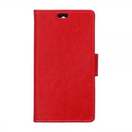 Wiko U Feel Lite Handyhülle - Case aus Leder - mit Crazy Horse Textur und Standfunktion - rot