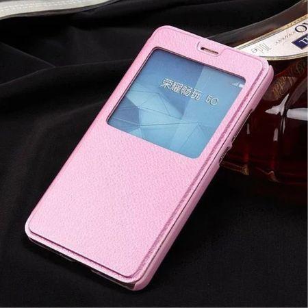 Handyhülle für Huawei Honor 5C/GT3 - Case aus Leder - mit Fenster - pink
