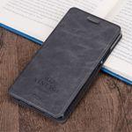 Mofi - Samsung Galaxy C7 Hülle - Flip Case aus Leder - mit Kreditkartenslots - schwarz
