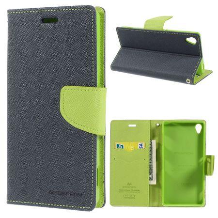Mercury Goospery - Sony Xperia Z3 Hülle - Handy Bookcover - Fancy Diary Series - navy/lime