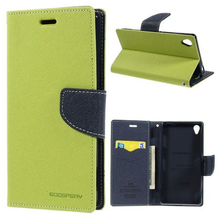 Mercury Goospery - Handy Cover für Sony Z3 - Handyhülle aus Leder - Fancy Diary Series - mint/navy