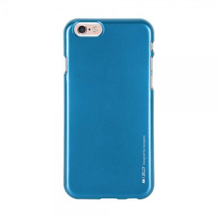 Mercury Goospery - Handy Schutzhülle für Samsung Galaxy A7 - Cover aus elastischem Gummi - i Jelly Series - blau