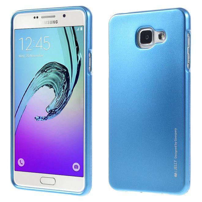 Goospery Mercury Goospery - Handy Schutzhülle für Samsung Galaxy A7 (2016 Edition) - Cover aus elastischem Gummi - i Jelly Series - blau