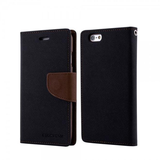 Goospery Mercury Goospery - Cover für Samsung Galaxy Tab 3 7.0 - Hülle aus Leder - Fancy Diary Series - schwarz/braun