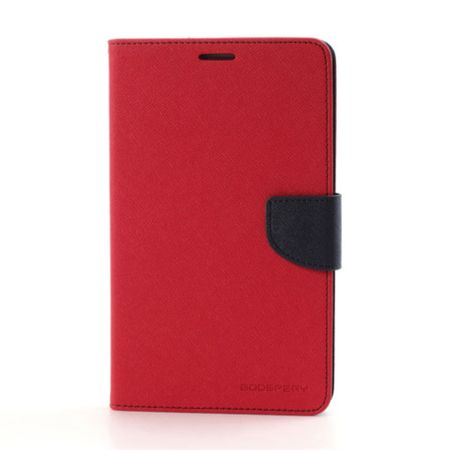 Mercury Goospery - Samsung Galaxy Tab 3 7.0 Hülle - Tablet Bookcover - Fancy Diary Series - rot/navy