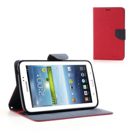 Mercury Goospery - Cover für Samsung Galaxy Tab 3 7.0 - Hülle aus Leder - Fancy Diary Series - rot/navy