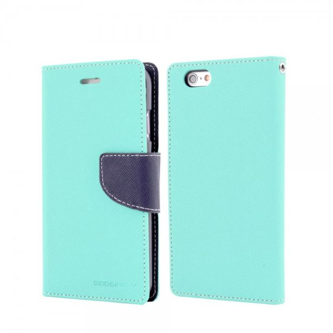 Goospery Goospery - Samsung Galaxy Tab 4 10.1 Hülle - Tablet Bookcover - Fancy Diary Series - mint/navy