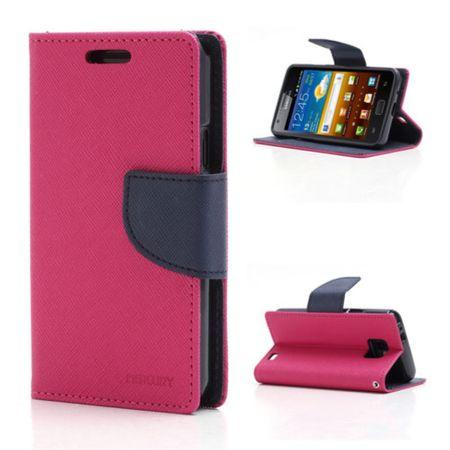Mercury Goospery - Handy Cover für Samsung Galaxy S2 - Handyhülle aus Leder - Fancy Diary Series - rosa/navy