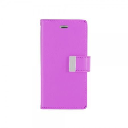Mercury Goospery - Cover für LG Stylus 2/G Stylo 2 - Handyhülle aus Leder - Rich Diary Series - purpur/navy