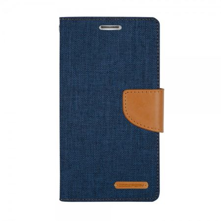 Goospery - Hülle für iPad Mini 1/2/3 - Bookcover - Canvas Diary Series - navy/camel