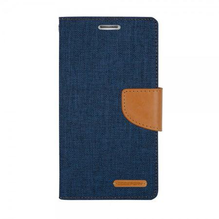 Mercury Goospery - Flipcase Hülle für iPad Mini 1/2/3 - Hülle aus Leder/Stoff - Canvas Diary Series - navy/camel