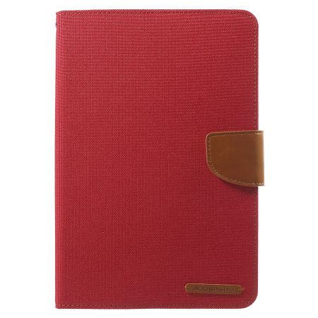 Mercury Goospery - iPad Mini 1/2/3 Hülle - Tablet Bookcover - Canvas Diary Series - rot/camel