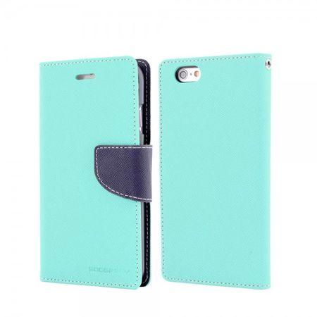 Mercury Goospery - Handy Cover für Samsung Galaxy A3 - Handyhülle aus Leder - Fancy Diary Series - mint/navy