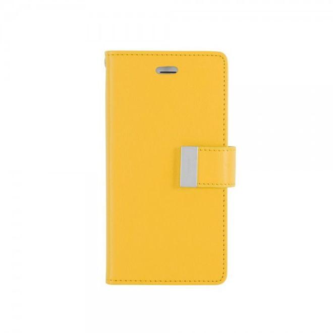 Goospery Mercury Goospery - Cover für Samsung Galaxy Note 3 - Handyhülle aus Leder - Rich Diary Series - gelb/rosa
