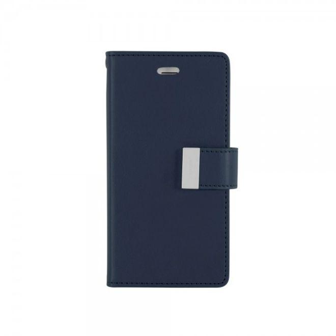 Goospery Goospery - Cover für Samsung Galaxy Note 3 - Handyhülle aus Leder - Rich Diary Series - navy/lime