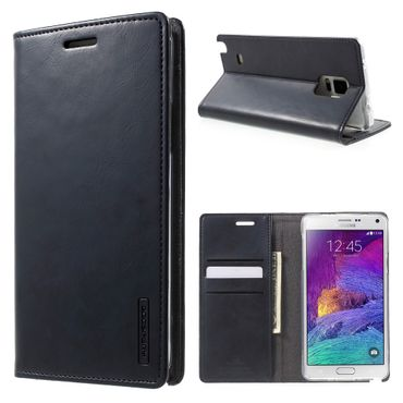 Mercury Goospery - Handyhülle für Samsung Galaxy Note 4 - Case aus Leder - Blue Moon Series - navy