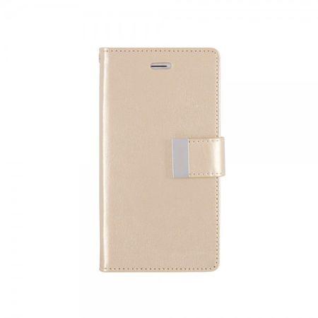 Mercury Goospery - Cover für Samsung Galaxy Note 4 - Handyhülle aus Leder - Rich Diary Series - gold/gold