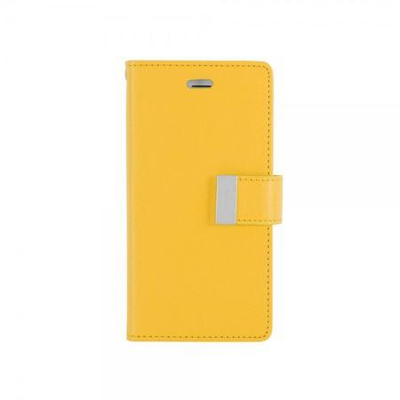 Mercury Goospery - Cover für Samsung Galaxy S4 - Handyhülle aus Leder - Rich Diary Series - gelb/rosa