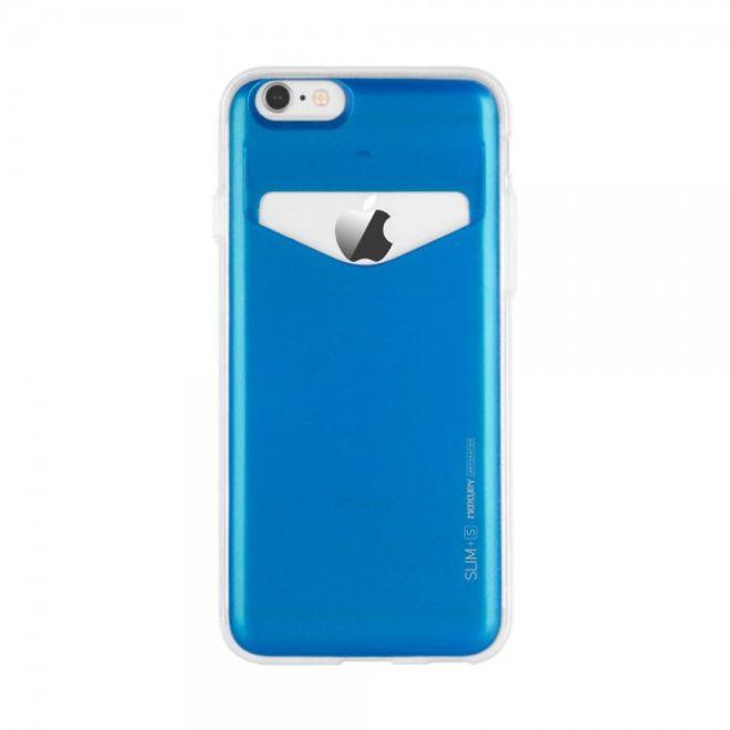 Goospery Mercury Goospery - Case für Samsung Galaxy Note 4 - Handyhülle aus Plastik - Slim Plus S Series - blau