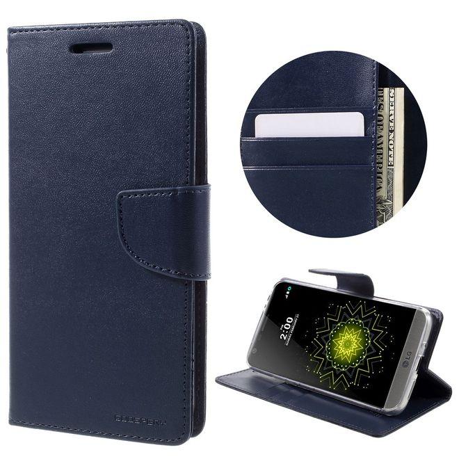 Goospery Mercury Goospery - Handyhülle für LG G5 - Case aus Leder - Bravo Diary Series - navy