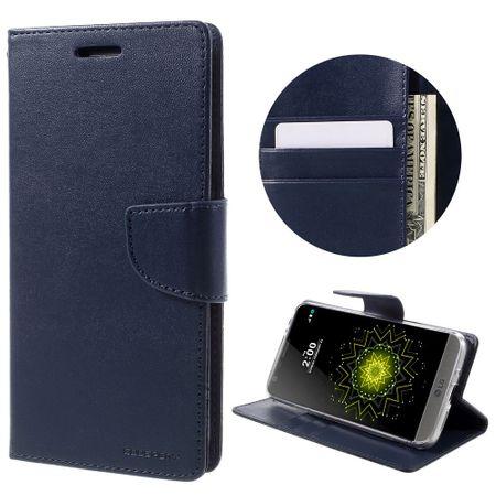 Mercury Goospery - Handyhülle für LG G5 - Case aus Leder - Bravo Diary Series - navy