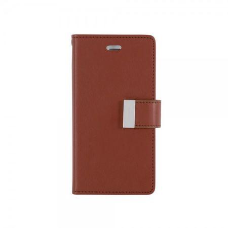 Mercury Goospery - Cover für Samsung Galaxy J5 - Handyhülle aus Leder - Rich Diary Series - braun/schwarz