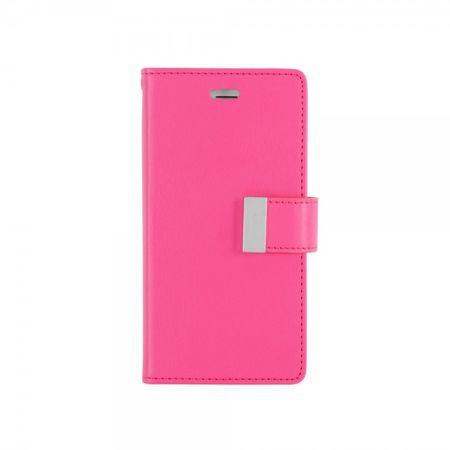 Goospery - Cover für Samsung Galaxy J5 - Handyhülle aus Leder - Rich Diary Series - pink/rosa