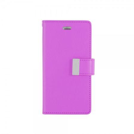 Goospery - Cover für Samsung Galaxy J5 - Handyhülle aus Leder - Rich Diary Series - purpur/navy