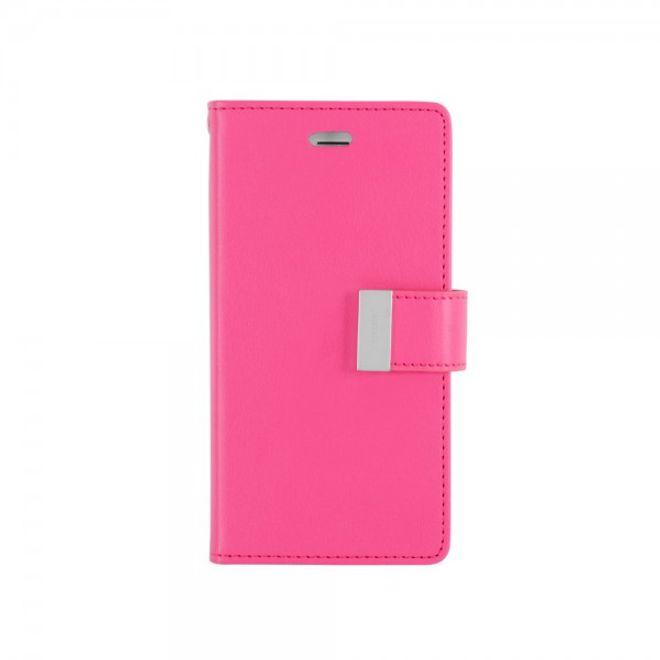 Goospery Mercury Goospery - Cover für Samsung Galaxy Note 5 - Handyhülle aus Leder - Rich Diary Series - pink/rosa