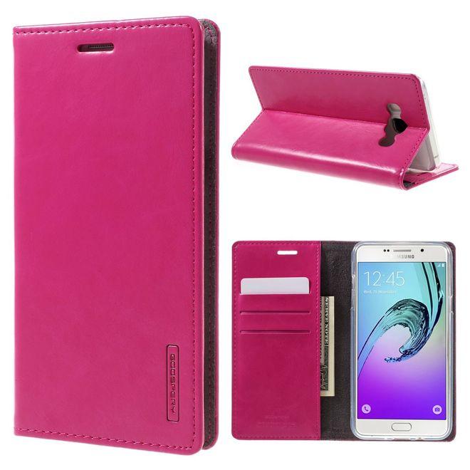 Goospery Mercury Goospery - Handyhülle für Samsung Galaxy J7 (2016 Edition) - Case aus Leder - Blue Moon Series - rosa