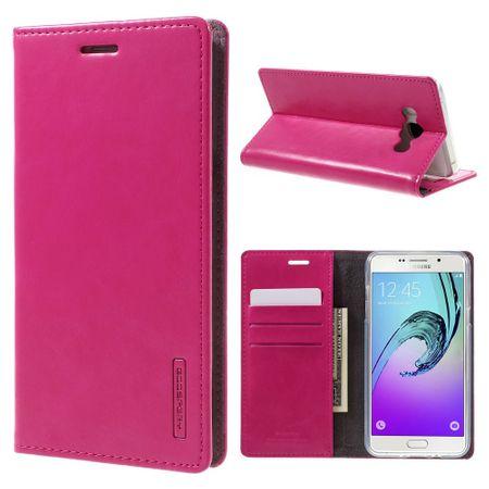 Mercury Goospery - Handyhülle für Samsung Galaxy J7 (2016 Edition) - Case aus Leder - Blue Moon Series - rosa