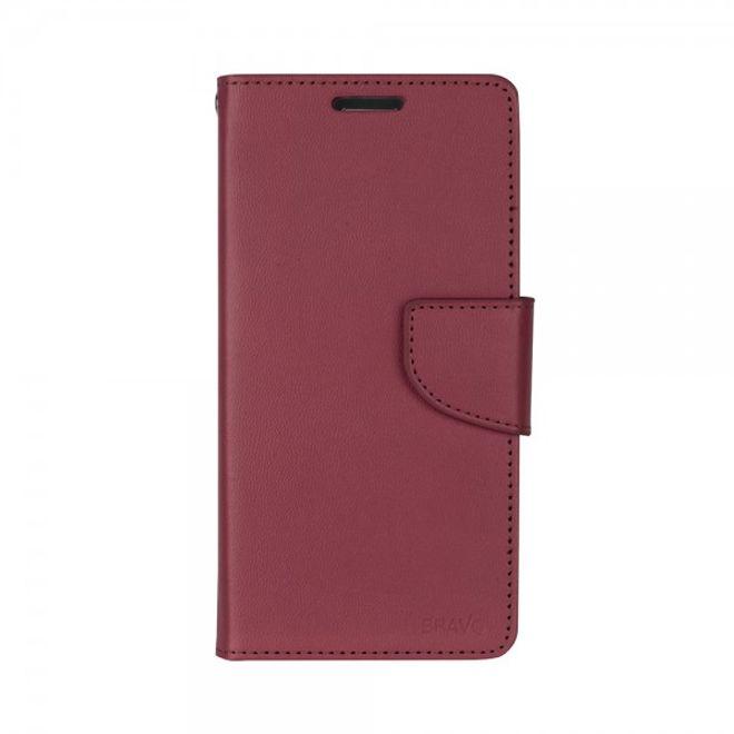 Goospery Mercury Goospery - Handyhülle für Samsung Galaxy A7 (2016 Edition) - Case aus Leder - Bravo Diary Series - weinrot