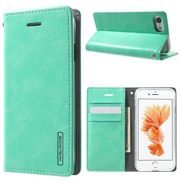 Mercury Goospery - Handyhülle für iPhone 8 / 7 - Case aus Leder - Blue Moon Series - mint