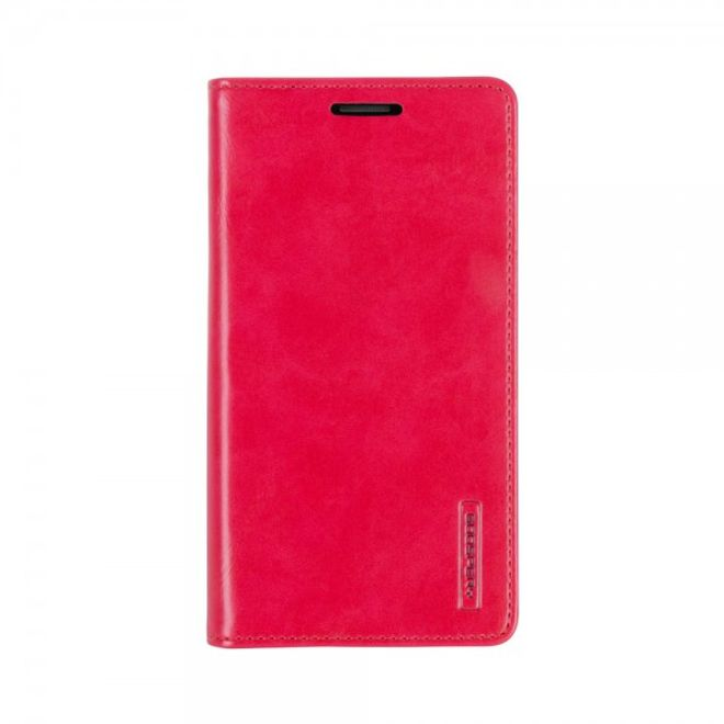 Goospery Mercury Goospery - Handyhülle für Samsung Galaxy A7 - Case aus Leder - Blue Moon Series - rot