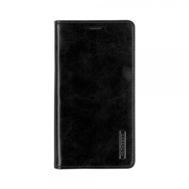 Goospery Mercury Goospery - Handyhülle für Samsung Galaxy A7 - Case aus Leder - Blue Moon Series - schwarz