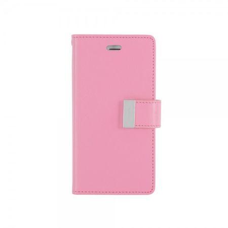 Goospery - Cover für Samsung Galaxy A7 - Handyhülle aus Leder - Rich Diary Series - rosa/pink