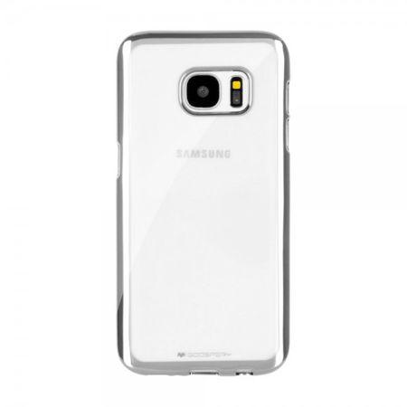 Goospery - Gummi Cover für Samsung Galaxy A7 - Handyhülle aus Gummi - Ring 2 Series - silber