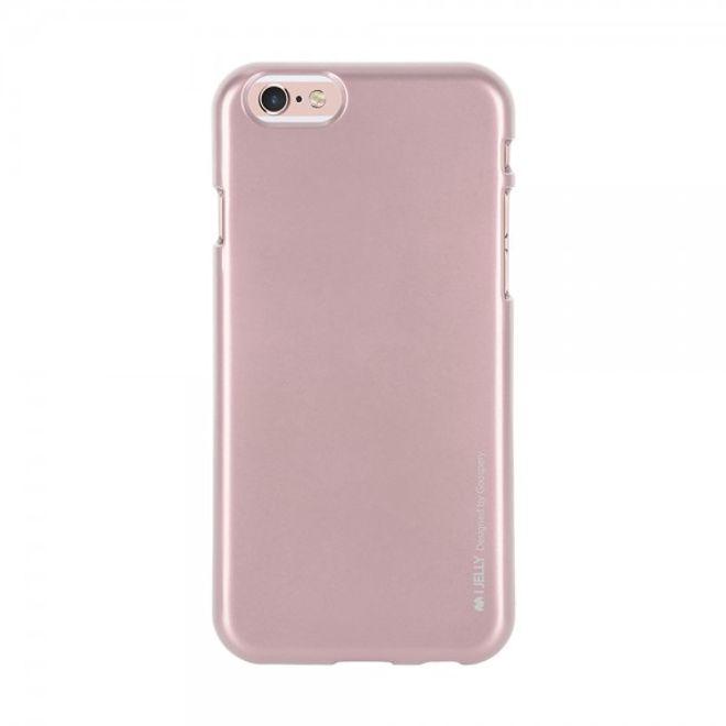 Goospery Mercury Goospery - Handy Schutzhülle für Samsung Galaxy A8 - Cover aus elastischem Gummi - i Jelly Series - rosagold