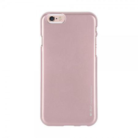 Mercury Goospery - Handy Schutzhülle für Samsung Galaxy A8 - Cover aus elastischem Gummi - i Jelly Series - rosagold