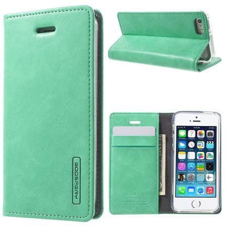 Mercury Goospery - Handyhülle für iPhone 5/5S/SE - Case aus Leder - Blue Moon Series - mint