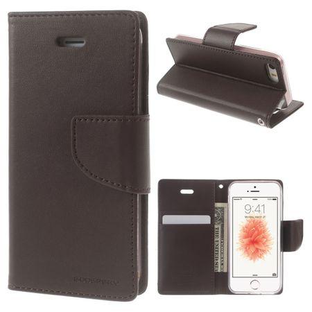 Goospery - Handyhülle für iPhone 5/5S/SE - Case aus Leder - Bravo Diary Series - braun