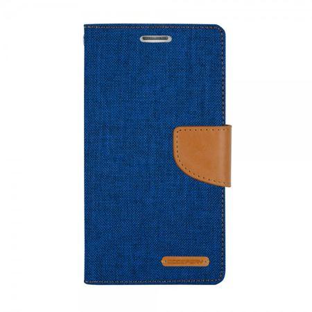 Goospery - Hülle für Samsung Galaxy Note Edge  - Bookcover- Canvas Diary Series - blau/camel