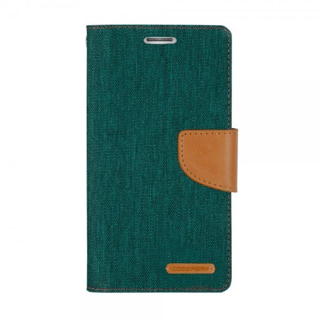 Goospery Goospery - Hülle für Samsung Galaxy Note Edge  - Bookcover- Canvas Diary Series - grün/camel
