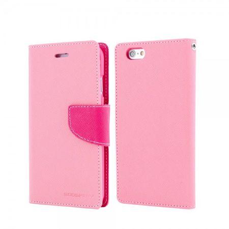 Mercury Goospery - Handy Cover für Samsung Galaxy Note 1 - Handyhülle aus Leder - Fancy Diary Series - pink/rosa