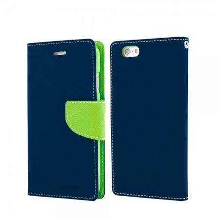 Mercury Goospery - Handy Cover für Samsung Galaxy Note 1 - Handyhülle aus Leder - Fancy Diary Series - navy/lime